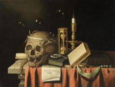 History of Memento Mori Art – Daily Stoic | Stoic Wisdom For Everyday Life Memento Mori Art, Art Terms, Drawing Exercises, Hourglass, Occult, Painting Techniques, Architecture Art, Art History, Still Life