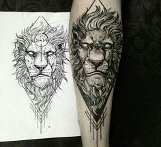 Lion tattoo by Fredao Oliveira Post 14495 lion tattoo - Tattoos And Body Art Tattoos 3d, Trendy Tattoos, Forearm Tattoos, Animal Tattoos, Body Art Tattoos, Tattoos For Guys, Sleeve Tattoos, Tattos, Calf Tattoos