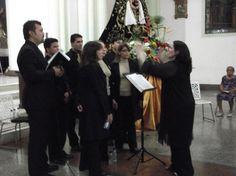 """Quadrivium Coro de Cámara @quadriviumccve cantando a la Vírgen del Socorro, """"CANTO A MARÍA"""".- @SilenaMSoprano"""