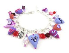 Hearts Charm Bracelet Adjustable Length by SweetchildJewelry