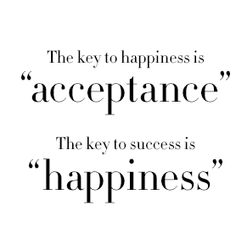 The keys to success and happiness.