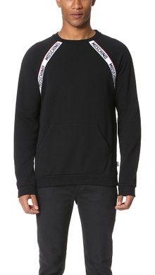 386c498797e4 Moschino Logo Tape Sleeveless Sweatshirt