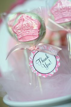 Hopefully I'll be making cake-pops (not as fancy as these) as take home favors. Of course, they'll also get to take home everything they got to create and dress up in.