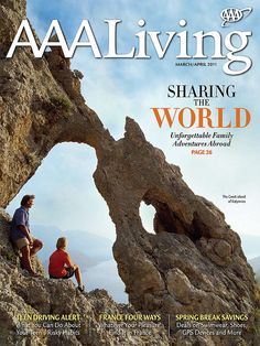 AAA Living magazine cover art featuring family adventures abroad from March/April 2011            #AAA #magazine #families