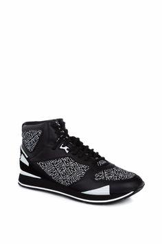 Kenzo Men's Sneakers Black Leather Logo Shoes Runmid EU40 Women Insole 25,5 cm #Kenzo #Sneakers