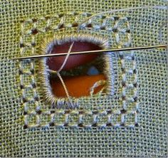 THE SEW THERAPY: PUNTO ANTICO - TUTORIAL 1 Flower Embroidery Designs, Embroidery Patterns, Drawn Thread, Cut Work, Bargello, Cross Stitch Embroidery, Applique, Beige, Blanket