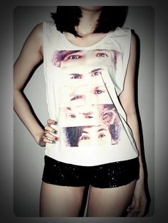 Eyes Of One Direction Shirt Crop Top Tank by RockTheWayYouLive, $14.99