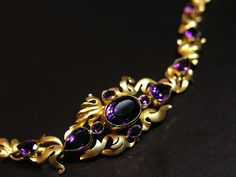 Amethyst & gold bracelet, mid 19th century (C)Regard Co.,Ltd