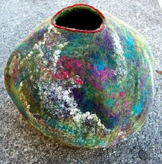 Spring Dreaming Vessel | by Suzanne Higgs, feltmaker