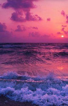 Pink sunset, sea waves, beach, wallpaper in 2019 Sunset Wallpaper, Cute Wallpaper Backgrounds, Pretty Wallpapers, Tumblr Wallpaper, Nature Wallpaper, Wallpaper Designs, View Wallpaper, Travel Wallpaper, Landscape Wallpaper