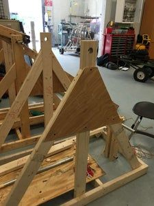 How to Build an Awesome Trebuchet: 17 Steps (with Pictures) Easy Woodworking Ideas, Woodworking Projects That Sell, Popsicle Stick Crafts, Craft Stick Crafts, Craft Sticks, Girl Scout Swap, Brownie Girl Scouts, Girl Scout Crafts, Service Projects