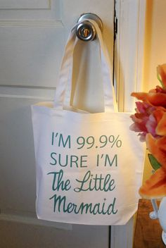 Little mermaid tote bag mermaid disney mermaid por rachelwalter, $14.00