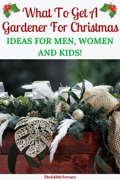 Gardening is a fav hobby for many men, women and kids. This Christmas get mom, dad, grandma, etc. a gift that speaks to their passion. Find here everything from the most popular gardening gifts of 2017 to DIY basket ideas and everything in between. #GiftIdeas #ChristmasGifts