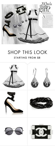 """Who's That Girl?"" by marriottkaren on Polyvore featuring Jimmy Choo, Wood Wood and Chanel"