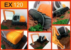 hitachi ex 130 digger novelty cake