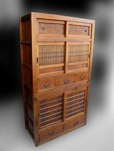 Japanese kitchen tansu or mizuya at www.Jtansu.com