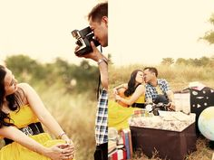 travel and picnic engagement Picnic Engagement, Engagement Pictures, Album, Travel, Fashion, Moda, Engagement Photos, Viajes, Fashion Styles