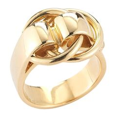 Hermes 1970s  Gold Buckle Ring | From a unique collection of vintage band rings at https://www.1stdibs.com/jewelry/rings/band-rings/