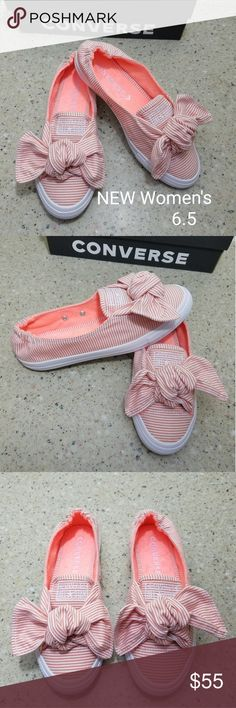af94b42ccd9e9f NEW Converse All Star SlipOn Women 6.5 Converse Women s Knot Striped  Chambray Slip on Sneaker Color