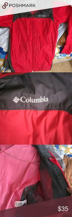 Columbia red rain jacket Worn 1-2 times Columbia Jackets & Coats
