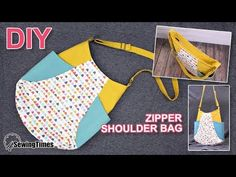 I made tulip shaped ZIPPER SHOULDER BAG today. I've shared a pattern so you can make this. Bag Pattern Free, Bag Patterns To Sew, Tote Pattern, Handbag Patterns, Diy Tote Bag, Diy Purse, Leather Bags Handmade, Handmade Bags, Zipper Crafts
