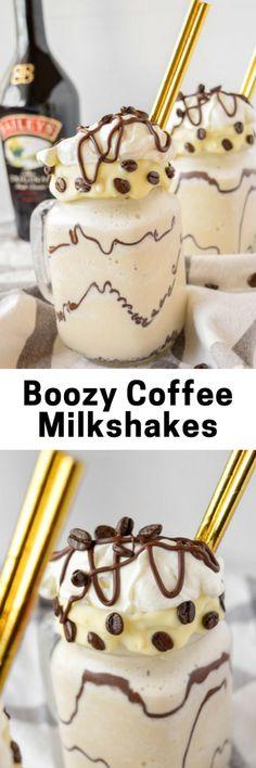 Boozy Coffee Milkshakes - Sweet Sundays