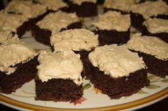 The Fresh Plate: Chocolate Brownies with Peanut Butter Frosting