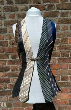 Mens ties recycled into vest