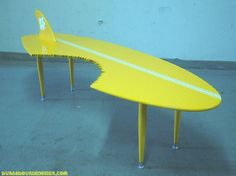 Atomic Furniture - Mid Century Retro Cool Design Craze Sweeps the ... #surfboard coffee table