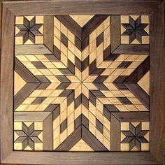 "Wooden Barn Quilts for Sale | Wooden Star"" wall hanging - hand crafted by Lowell Miller"