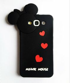 Black Cartoon Mouse Hide and Seek Silicone Case Cover for Samsung Galaxy S3 i9300 - Cartoon Mouse Galaxy S3 Cases - Galaxy S3 Cases