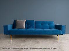 SPLITBACK Sofa Schlafsofa mit Armlehnen Innovation