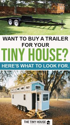 Picking the right trailer for your tiny house is one of the most important decisions you'll make, but how do you find the best tiny home trailer for your build? Should you buy a tiny house trailer from a specialist manufacturer like Tiny Home Builders and Tumbleweed Tiny House Company or customize a regular flatbed trailer? Cheap Tiny House, Buy A Tiny House, Tiny House Family, Tiny House Company, Tiny House Builders, Building A Tiny House, Tiny House Living, Tiny House Plans, Tiny House Design