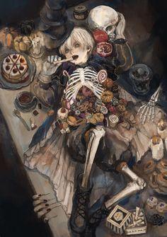 Arte Obscura, Creepy Art, Dark Fantasy Art, Horror Art, Surreal Art, Aesthetic Art, Japanese Art, Cool Drawings, Dungeons And Dragons