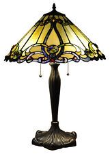 """Tiffany-style Victorian Design 2-lights Stained Glass Table Lamp 18"""" Shade"""