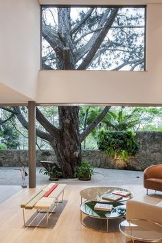 Living Room At The Offset House by Shieh Arquitetos Associados