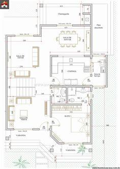Pinterest: @claudiagabg | Casa 2 pisos 4 cuartos 1 estudio / planta 1