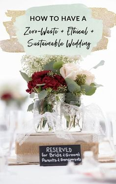 How to have a zero-waste, ethical, and sustainable wedding Free Wedding, Chic Wedding, Wedding Tips, Wedding Events, Wedding Favors, Our Wedding, Wedding Invitations, Wedding Decorations, Budget Wedding