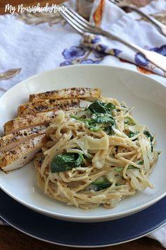 Spinach and Fontina Pasta