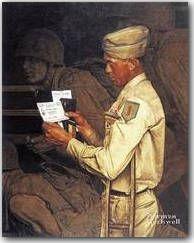 "Norman Rockwell print /""WAR BOND/"" military GI Disabled Veterans Administration VA"