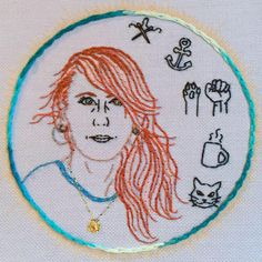 Embroidered Self Portrait