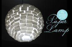 """DIY Dress up your plain Ikea Regolit lamp shade using tracing paper. Plus 25 other """"diy-able"""" paper light shade ideas!"""