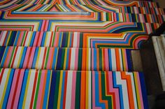 The colourful vinyl tape installations of Jim Lambie. #seetheworld