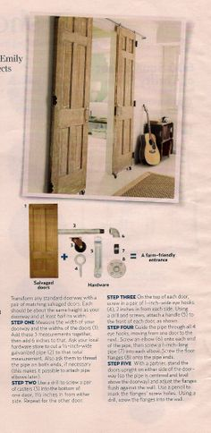 how to make sliding doors