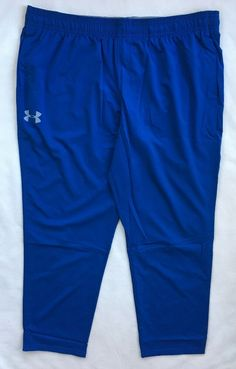 254b5f50c UNDER ARMOUR Mens HIIT Woven Training Athletic Pants Blue 1271949 NWT $60  3XL #Underarmour #ActivewearPants
