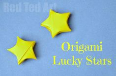 How to Make an Origami Lucky Star - Red Ted Art - Make crafting with kids easy & fun Craft Activities For Kids, Preschool Crafts, Crafts For Kids, Craft Ideas, Origami Toys, Origami Easy Step By Step, Useful Origami, Fun Origami, Origami Lucky Star