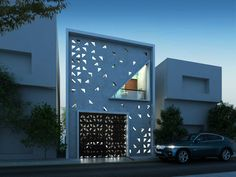 Punctured Wall Elevation - Residence Architecture Design-in-Thiruvarur,Tamilnadu,India
