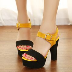 2013 Summer Match Color Thick With Sandals