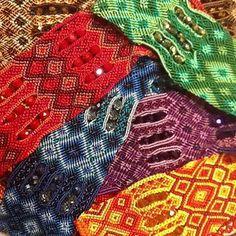 Bohemian Style…  Sparkly beaded  cuffs made by Mayan women near Antigua, Guatemala.