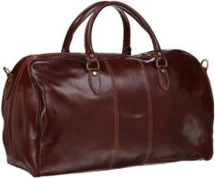 Amazon.com: Floto Luggage Venezia Duffle, Vecchio Brown, One Size: Clothing